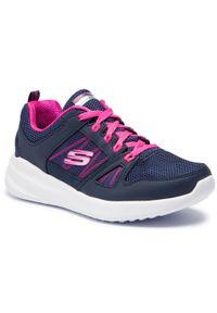 Niebieskie buty do fitnessu skechers na co dzień, z cholewką