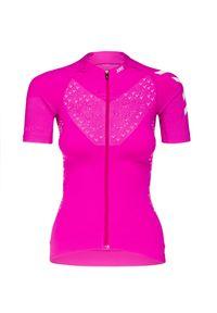 X-Bionic - Koszulka X-BIONIC TWYCE 4.0 BIKE ZIP. Kolor: różowy. Długość rękawa: krótki rękaw. Sport: kolarstwo