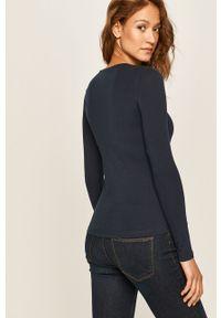 Niebieska bluzka z długim rękawem Pepe Jeans casualowa, na co dzień, z nadrukiem