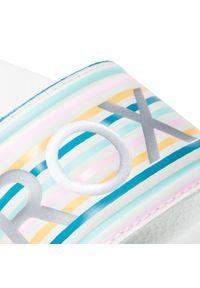 Roxy - Klapki ROXY - ARGL100287 Spk. Kolor: biały. Materiał: skóra ekologiczna, skóra
