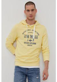 Tom Tailor - Bluza bawełniana. Okazja: na co dzień. Kolor: żółty. Materiał: bawełna. Wzór: nadruk. Styl: casual