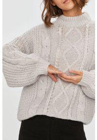 Szary sweter Answear Lab z długim rękawem, wakacyjny, długi, z okrągłym kołnierzem
