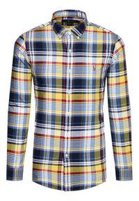 Polo Ralph Lauren Koszula Oxford 710844537004 Żółty Slim Fit. Typ kołnierza: polo. Kolor: żółty