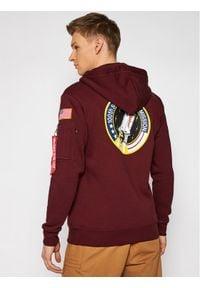 Alpha Industries Bluza Space Shuttle 178317 Bordowy Regular Fit. Kolor: czerwony