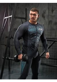 Koszulka sportowa FJ! z długim rękawem, na fitness i siłownię, w kolorowe wzory