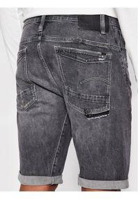 G-Star RAW - G-Star Raw Szorty jeansowe Scutar 3D D19195-C293-C287 Szary Taperd Fit. Kolor: szary. Materiał: jeans