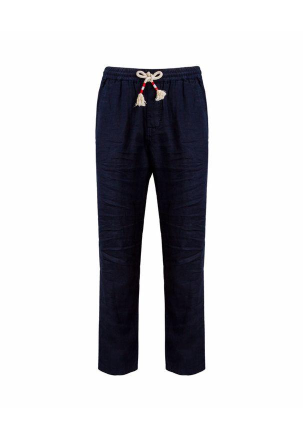 Niebieskie spodnie Mc2 Saint Barth wakacyjne