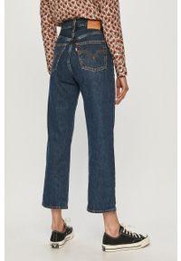 Levi's® - Levi's - Jeansy Ribcage Straight Ankle. Okazja: na spotkanie biznesowe, na co dzień. Kolor: niebieski. Wzór: gładki. Styl: biznesowy, casual