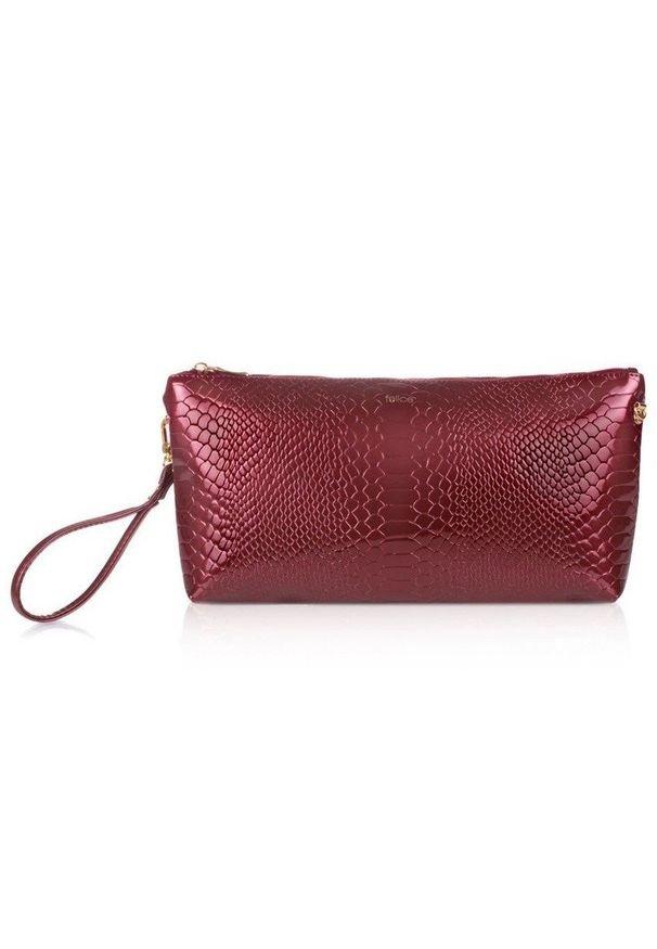 FELICE - Kosmetyczka damska Felice FA17 czerwona. Kolor: czerwony. Materiał: skóra ekologiczna