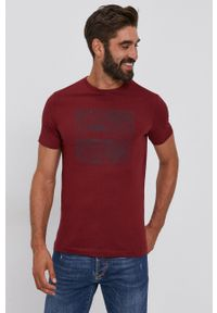 s.Oliver - s. Oliver - T-shirt bawełniany. Okazja: na co dzień. Kolor: czerwony. Materiał: bawełna. Wzór: nadruk. Styl: casual
