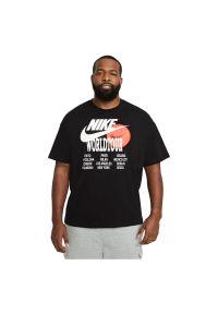 Koszulka męska Nike Sportswear DA0937. Materiał: materiał, bawełna. Długość rękawa: długi rękaw. Długość: krótkie. Wzór: nadruk, napisy