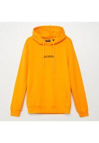 Cropp - Bluza z haftem - Żółty. Kolor: żółty. Wzór: haft