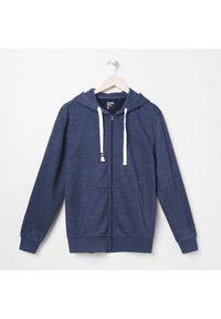Sinsay - Rozpinana bluza z kapturem - Granatowy. Typ kołnierza: kaptur. Kolor: niebieski