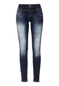 Niebieskie jeansy PULZ klasyczne, z podwyższonym stanem