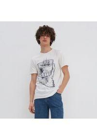 House - Koszulka z nadrukiem - Kremowy. Kolor: kremowy. Wzór: nadruk