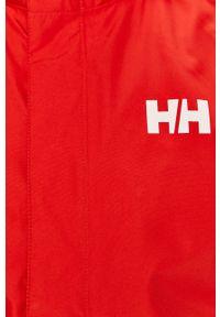 Czerwona kurtka Helly Hansen casualowa, gładkie, na co dzień, z kapturem