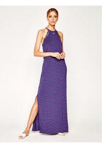 Fioletowa sukienka Emporio Armani Underwear na co dzień, casualowa