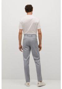 Mango Man - Spodnie PAULO. Kolor: szary. Materiał: tkanina