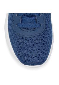 Niebieskie buty do fitnessu skechers z cholewką, na co dzień