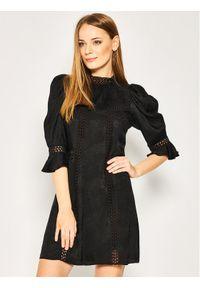 Czarna sukienka The Kooples prosta, na co dzień, casualowa