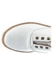 Lanqier - Półbuty LANQIER 44C0714 Biały. Okazja: na spacer. Kolor: biały. Materiał: jeans, skóra, guma. Szerokość cholewki: normalna. Styl: sportowy