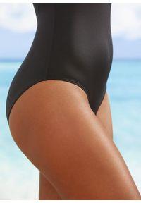 Kostium kąpielowy bonprix czarno-ciemnoniebiesko-jasna limonka. Kolor: czarny