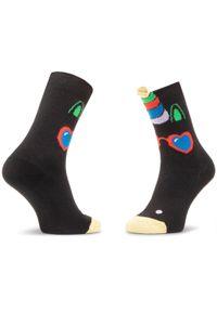 Czarne skarpetki Happy-Socks