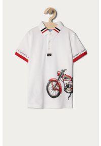 Biały t-shirt polo Mayoral krótki, na co dzień, polo, casualowy