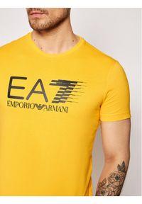 EA7 Emporio Armani T-Shirt 3KPT39 PJ02Z 1604 Żółty Regular Fit. Kolor: żółty