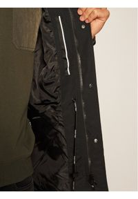 Czarna parka Calvin Klein z nadrukiem