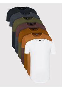 Only & Sons Komplet 7 t-shirtów Matt Life Long 22012787 Kolorowy Regular Fit. Wzór: kolorowy