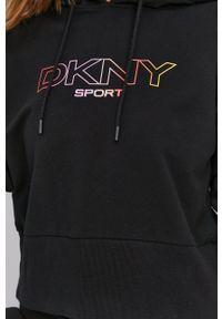 DKNY - Dkny - Bluza. Kolor: czarny. Wzór: nadruk