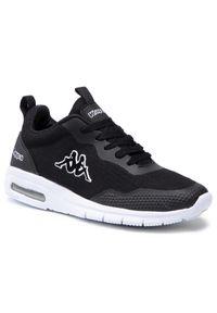Kappa - Sneakersy KAPPA - Canberra 242939 Black/White 1110. Okazja: na co dzień. Kolor: czarny. Materiał: skóra, materiał. Szerokość cholewki: normalna. Sezon: lato. Styl: casual