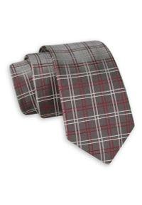 Krawat Angelo di Monti elegancki, w kratkę