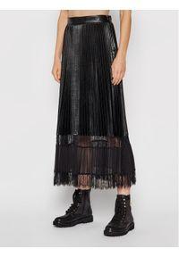 TwinSet Spódnica plisowana 212TP2090 Czarny Regular Fit. Kolor: czarny