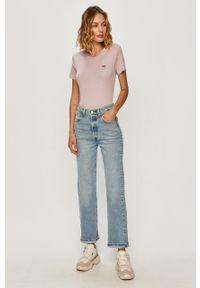Niebieskie jeansy Levi's® na co dzień, biznesowe, z podwyższonym stanem
