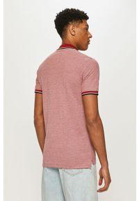 Czerwona koszulka polo Premium by Jack&Jones polo, na co dzień