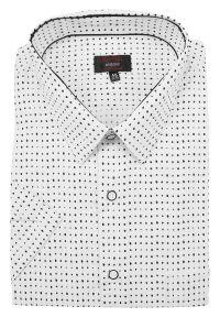 Elegancka koszula Jurel krótka, z klasycznym kołnierzykiem, z krótkim rękawem
