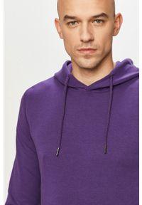 Jack & Jones - Bluza. Typ kołnierza: kaptur. Kolor: fioletowy. Materiał: dzianina, bawełna, poliester. Wzór: gładki #1