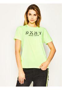 Żółty t-shirt DKNY