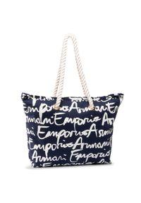 Niebieska torebka klasyczna Emporio Armani klasyczna