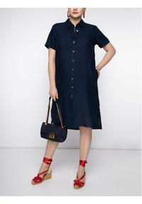 Niebieska sukienka koszulowa Persona by Marina Rinaldi