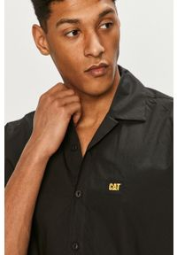 CATerpillar - Caterpillar - Koszula. Okazja: na co dzień. Kolor: czarny. Materiał: tkanina. Wzór: gładki. Styl: casual