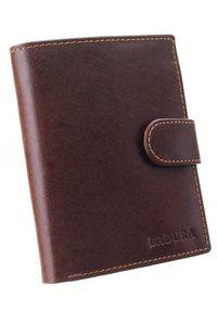 Portfel męski brązowy Badura PO_M034BR_CE. Kolor: brązowy. Materiał: skóra