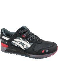 Czarne sneakersy Asics lifestyle Asics Gel Lyte, w kolorowe wzory, z cholewką