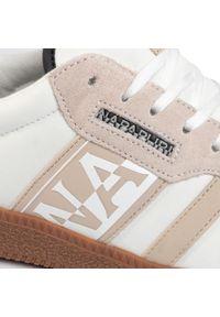 Beżowe sneakersy Napapijri z cholewką, na co dzień