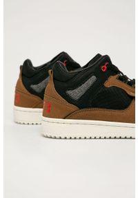 Brązowe sneakersy Pepe Jeans z cholewką, na sznurówki