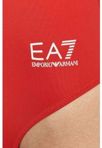 EA7 Emporio Armani - Strój kąpielowy. Kolor: czerwony