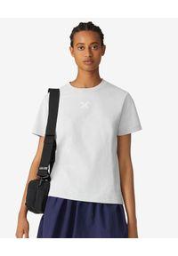 Szary t-shirt Kenzo z aplikacjami, sportowy