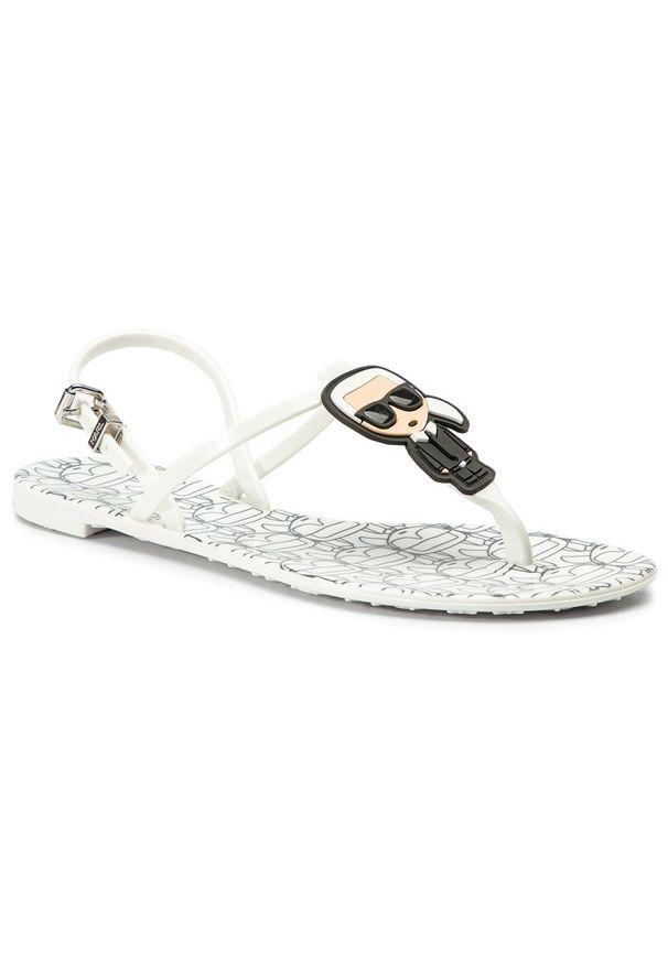 Białe sandały Karl Lagerfeld
